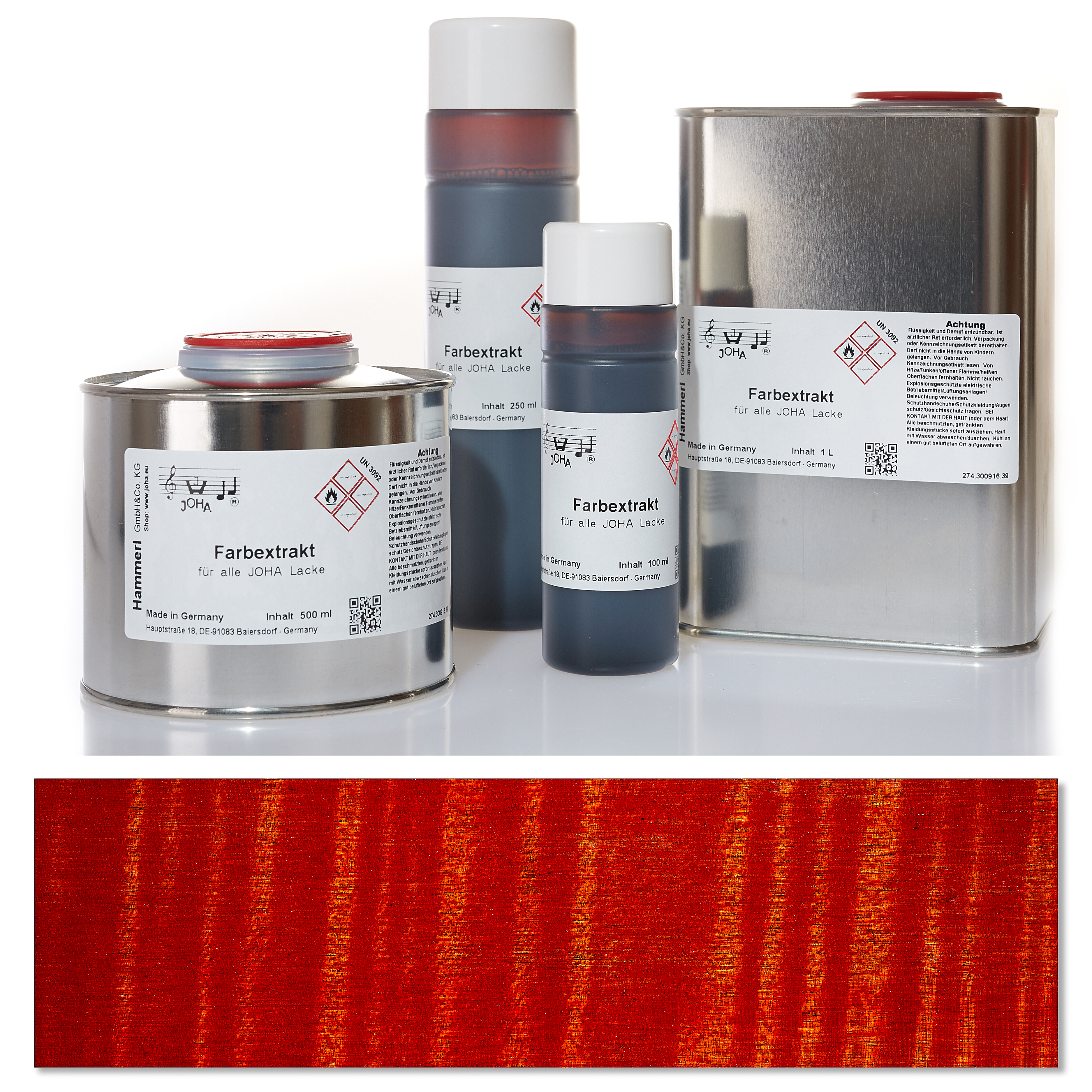 Color extract red | Hammerl GmbH & Co. KG Violin varnishes
